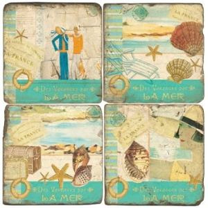 French Shell Coasters