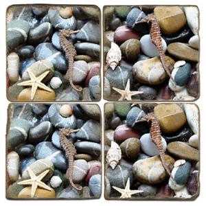 Seahorse Marble Coasters