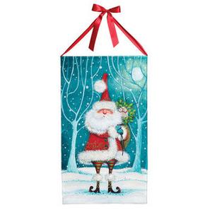 Santa And Owl Canvas Banner