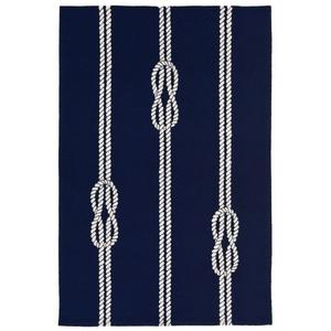 "Ropes Navy Rug 5' X 7'6"""