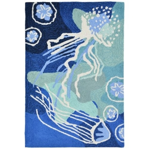 "Jelly Fish Ocean Rug 24"" X 36"""