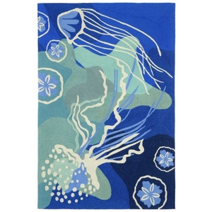 "Jelly Fish Ocean Rug 5' X 7'6"""