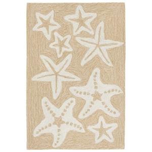 "Starfish Neutral Rug 24"" X 36"""