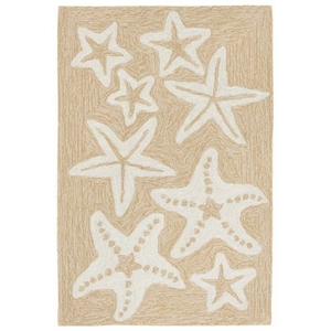 "Starfish Neutral Rug 24"" X 8'"