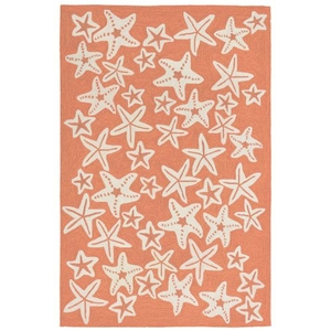 "Starfish Coral Rug 5' X 7'6"""