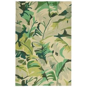 """Palm Leaf Green Rug 5' x 7'6"""""""