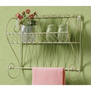 Shelf With Towel Bar
