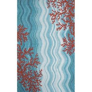 Coral Reef Water Rug 8' x 10'