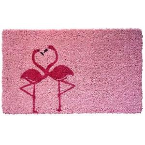 Flamingos Handwoven Coconut Fiber Doormat