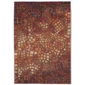"""Arch Tile Red Rug 24"""" X 36"""""""