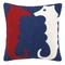 Seahorse Crewel Pillow