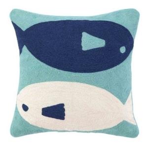 Fish Crewel Pillow