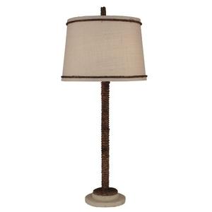 coastal lamp manila rope w painted base table lamp 3447t. Black Bedroom Furniture Sets. Home Design Ideas