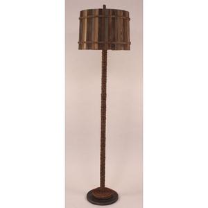 Coastal Lamp Manila Rope Floor Lamp W/ Painted Base