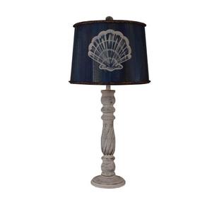 Coastal Lamp Swirl Candlestick Pot - Shabby Light Nude