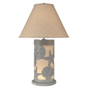 Coastal Lamp Multi Shell Scene Panel W/ Nightlight - Weathered Seaside Villa
