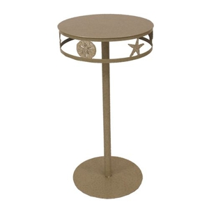 Coastal Lamp Drink Table W/ Multi Shell Band