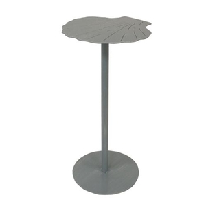 Coastal Lamp Drink Table W/ Shell Top