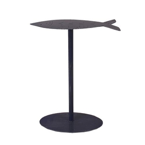 Coastal Lamp Drink Table W/ Fish Top