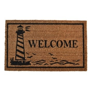 Lighthouse Welcome Vinyl Back Door Mat