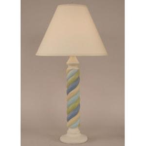 Coastal Lamp Small Rope Table Lamp - Cottage/Multi Cottage Stripe