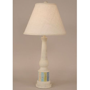 Coastal Lamp Striped Pedestal Accent Lamp - Cottage/Multi Stripe Accent