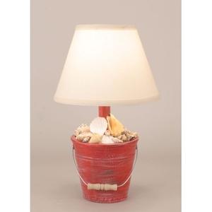 Coastal Lamp Mini Bucket Of Shells