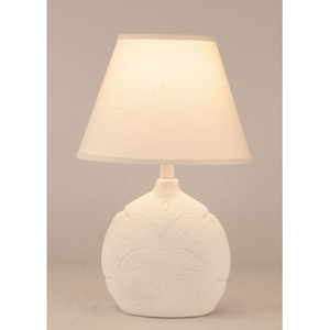 Coastal Lamp Sand Dollar Accent Lamp - Nude Two Tone