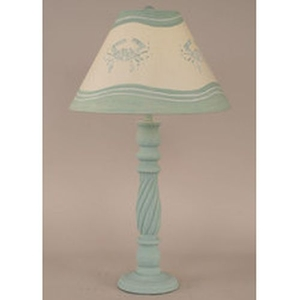 Blue Crabs Lamp Swirl Table Lamp