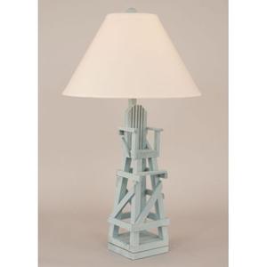 Coastal Lamp Life Guard Chair Table Lamp - Weathered Atlantic Grey