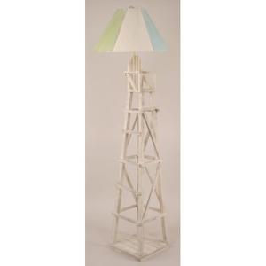 Coastal Lamp Life Guard Chair Floor Lamp
