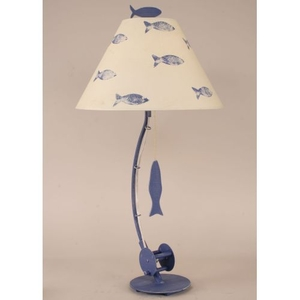 Coastal Lamp Sea Fishing Pole Table Lamp - Weathered Morning Jewel