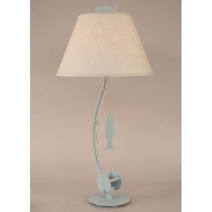 Coastal Lamp Sea Fishing Pole Table Lamp - Weathered Atlantic Grey