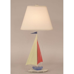 Iron Sail Boat Accent Lamp