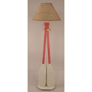Coastal Lamp 2 Paddle W/ Rope Floor Lamp