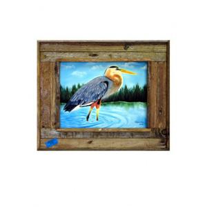 Wading Blue Heron Framed Art Print
