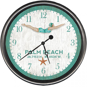 Personalized Dive Girl Clock
