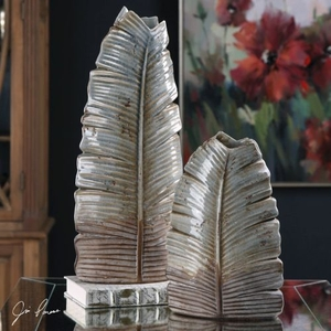 Invano Leaf Vases S/2