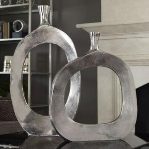 Cierra Aluminum Vases S/2