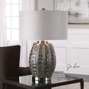 Aura Ash Black Glaze Lamp