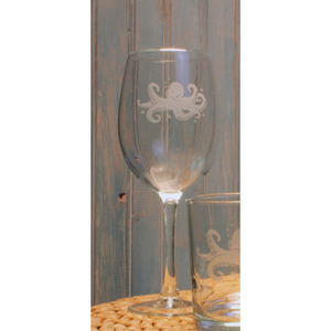 Octopus Small White Wine Glasses  Set of 4