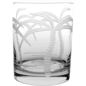 Palm Tree DOF 14oz Glasses (Set Of 4)