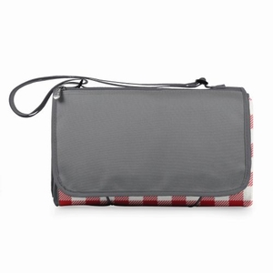 Blanket Tote - Red Check With Grey