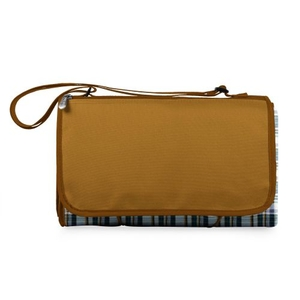 Blanket Tote-English Plaid/Brown Flap