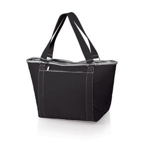 Topanga Insulated Tote Bag - Black W/ Grey Trim