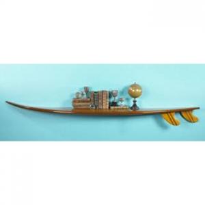 Authentic Models Classic Nautical Waikiki Surf Board Shelf