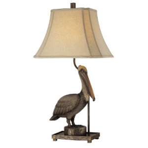 Coastal Antique Pelican Table Lamp Sale