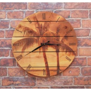 Palm Tree Indoor/ Outdoor Cedar Clock