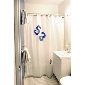 Spinnaker Shower Curtain in White Sailcloth