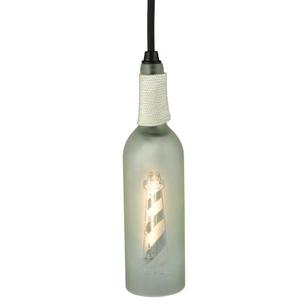 "3"" W Coastal Collection Lighthouse Wine Bottle Mini Pendant"